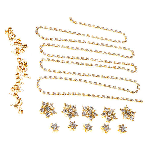 Diamante Flowers & Cupchain - Gold