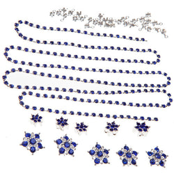 Diamante Flowers & Cupchain - Royal Blue