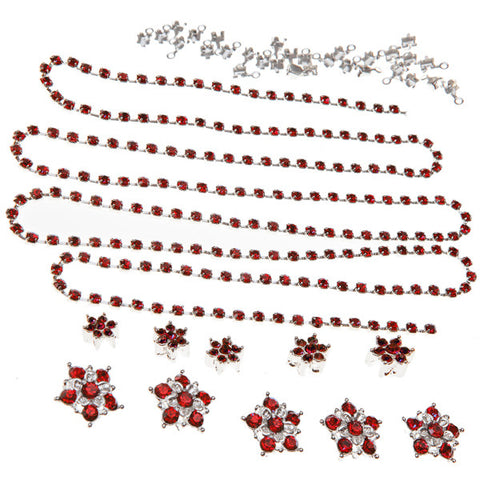 Diamante Flowers & Cupchain - Red