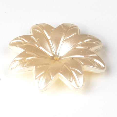 40mm Pearl star flower ivory bead for weddings, crafts and jewellery making.