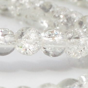 bdi 4mm clear crackle bead, from bd-i beads