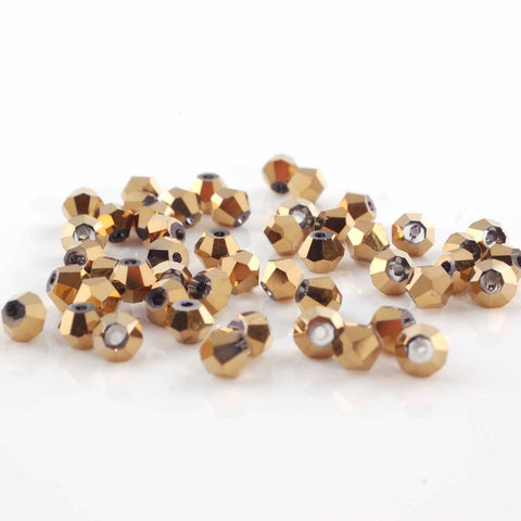 BDi half gold crystal beads for jewellery making