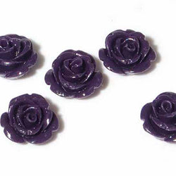 dark purple flower beads bdi