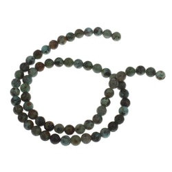 15.5cm long strand of 6mm smooth round natural African turquoise beads