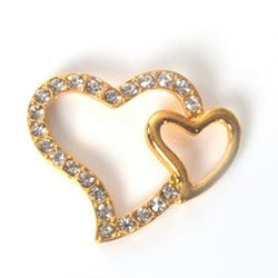 Diamante gold heart for tiara making, jewelry making, beads, diamante and DIY wedding accessories