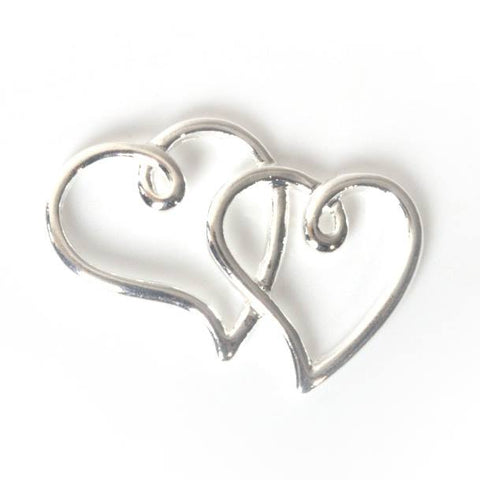 Silver heart for tiara making, beads, diamante, jewelry making and DIY wedding accessories