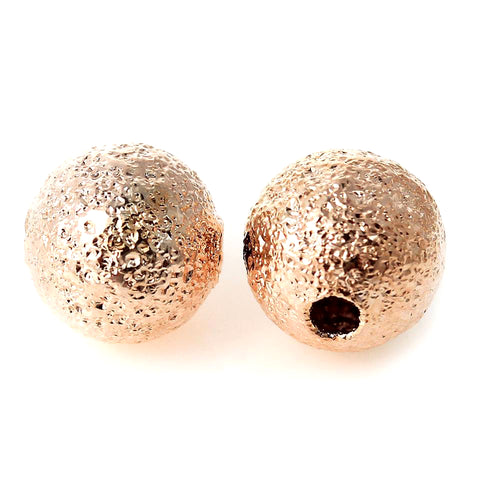 Rose gold round metal jewelry beads for tiara making, jewelry making and DIY wedding accessories