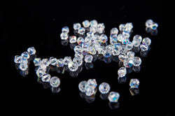 4mm beads - cut glass crystal bicone beads