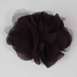 Black flower with netting 7.5cm
