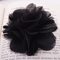 Black millinery flower