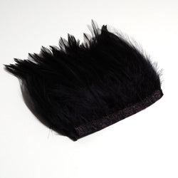Black biot feather fringe