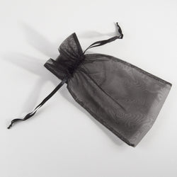 Black Organza Gift Pouch - Large (pack of 6)