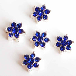 Blue diamante flowers