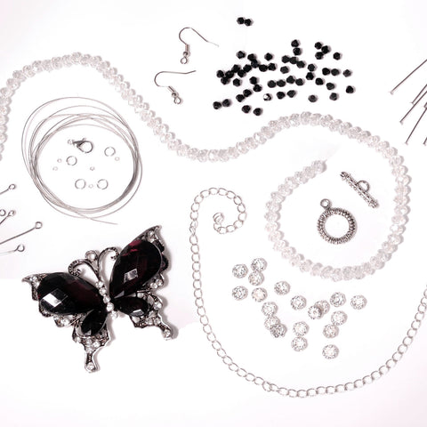 Statement butterfly and bead bundle