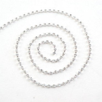 Diamante Trim - Silver 3mm