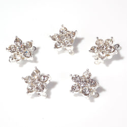 Diamante flower clasps