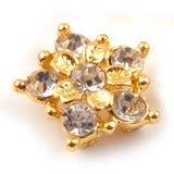 Diamante Findings Flower 007 - Gold