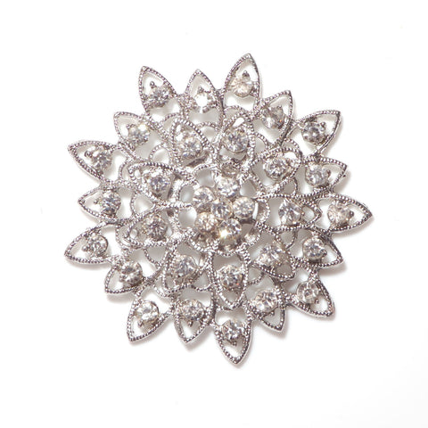 flat backed flower with diamantes