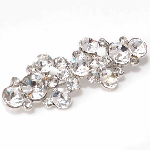 6cm Diamante Oblong Brooch diamante