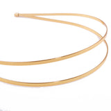 gold plated double tiara base.  a double headband for tiara and fascinator making