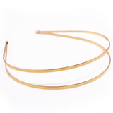 gold plated double alice band for tiara making and millinery
