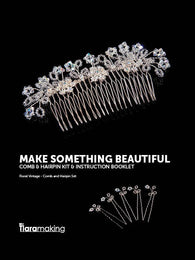 kit and instructions for a crystal comb and hairpins