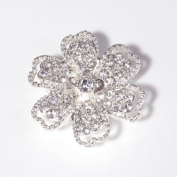 Diamante flower with 6 loops (3cm)