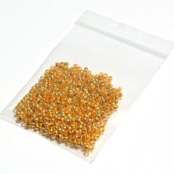 Crimp Beads - Gold (2mm) jewellery findings
