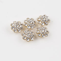 Gold/Clear diamante findings flower for tiara, craft, jewelry, jeweling, etc