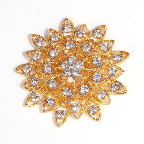 Flat back diamante flower