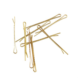 Metal Hair Slide Finding, Gold Pack of 10