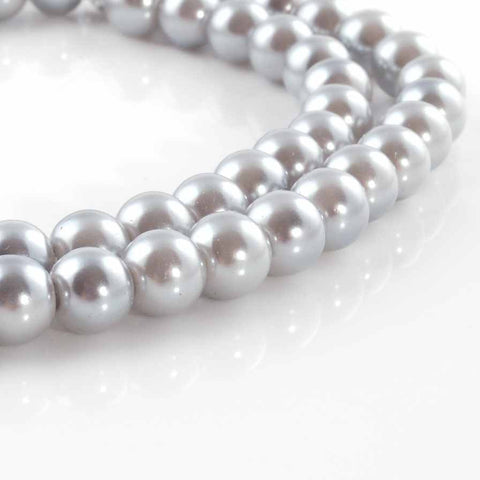 BDi Round Pearl Beads Moonlight Grey