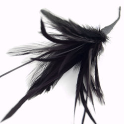 black feather spray for millinery and crafts