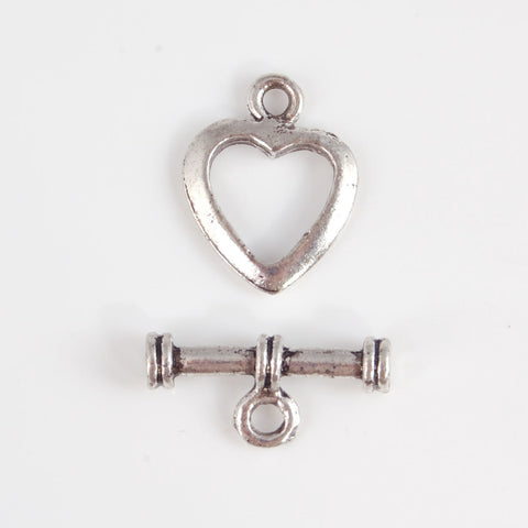 BDi heart toggle clasp for jewellery making