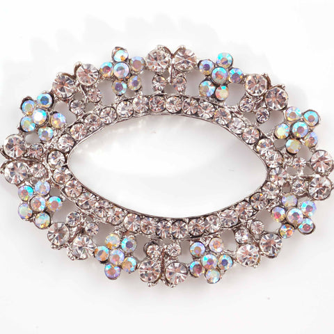 Flat backed diamante oval (7cm)