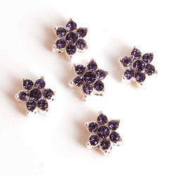 lilac lavender small diamante flowers for tiara making