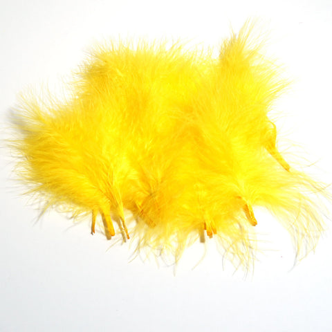 Marabou Feathers - Yellow