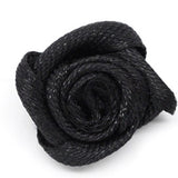 Miniature Black Satin Ribbon Roses (pack of 10)