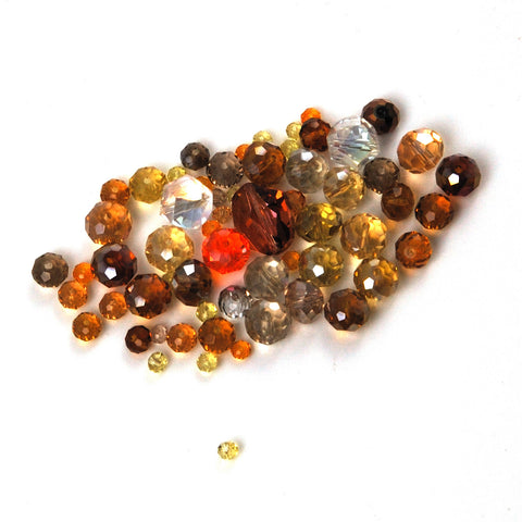 Amber Mixed Crystal Bead Bag
