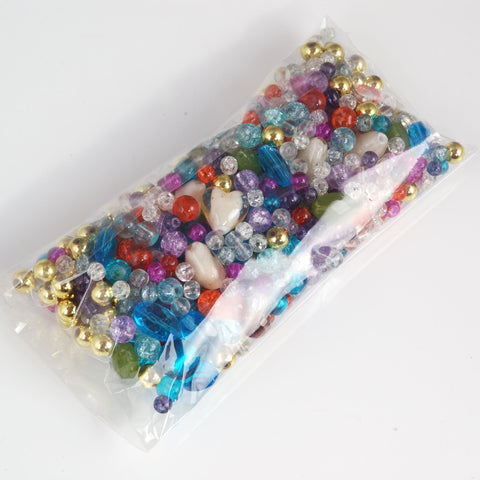 Multi coloured mixed beads