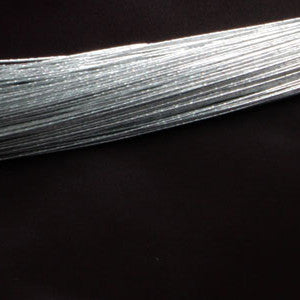 Non Tarnish Wire Strips - Silver (0.4mm x 42cm), Pack of 50