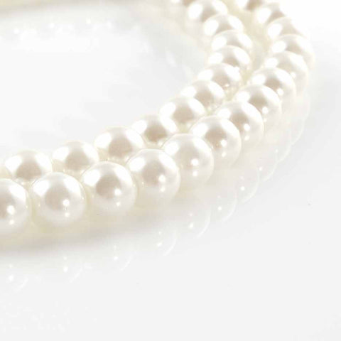 BDi Round Pearl Beads Winter White