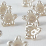 Pearl Star Flower Beads - Ivory
