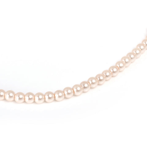 Round Pearl Beads - Oyster Pink (6mm), Strand 16""