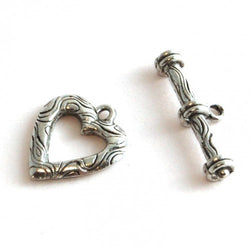 Pewter Heart Toggle Clasp