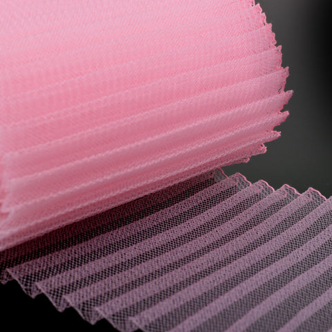 pink pleating crin fabric 6 inches