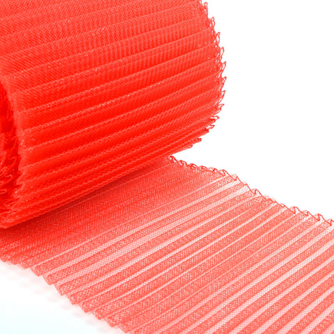 "millinery supplies pleated crin 6"" red"