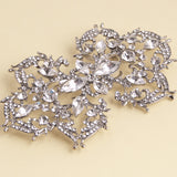 Large diamante brooch