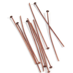 Headpin 50mm - Red Copper, pack of 10