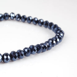 BDi Crystal Rondelle Beads in Midnight Blue